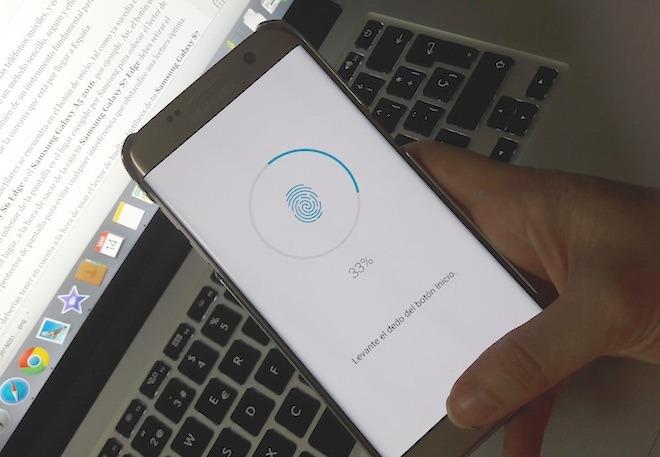 Así funciona el lector de huella del Samsung Galaxy S7 Edge