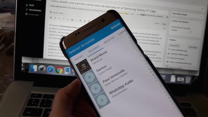 Cómo añadir una canción como tono de llamada en el Samsung Galaxy S7 Edge