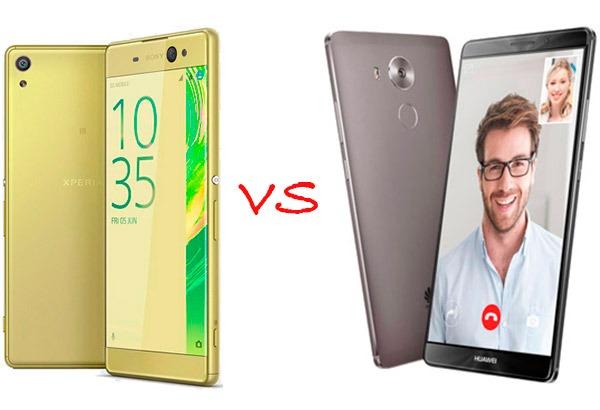 Comparativa Sony Xperia XA Ultra vs Huawei Mate 8