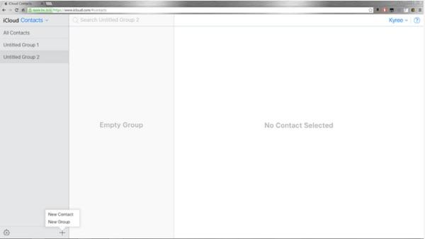 iCloud contactos