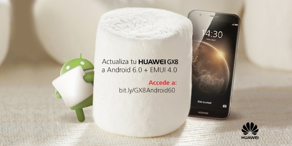 El Huawei GX8 se actualiza a Android 6.0 Marshmallow