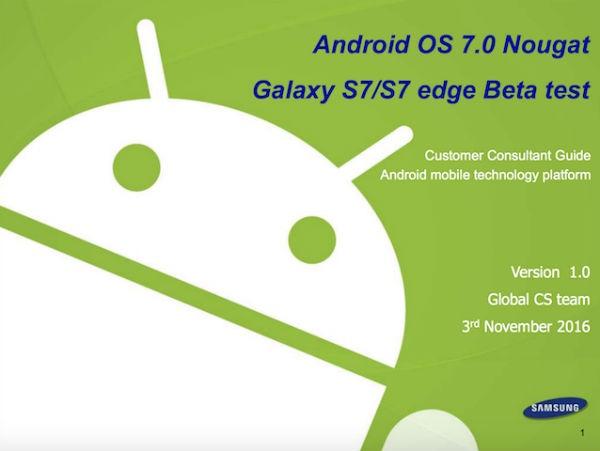 Samsung publica una guía para usar Android 7 en los Galaxy S7