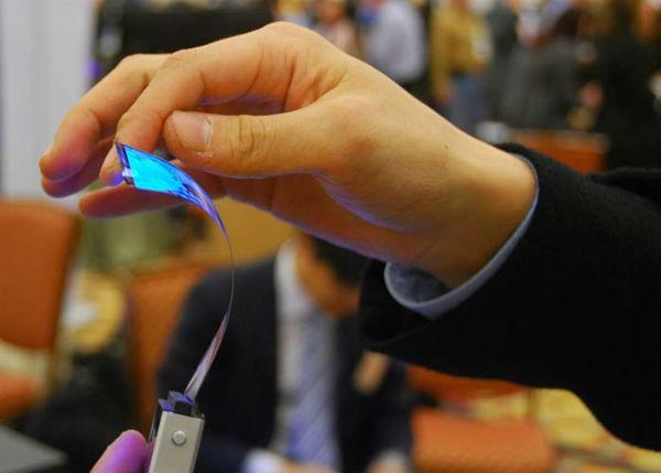 Así funcionaría la pantalla flexible OLED de Samsung