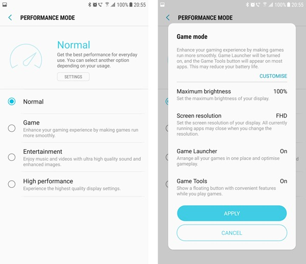 android 7 samsung galaxy s7 modo rendimiento