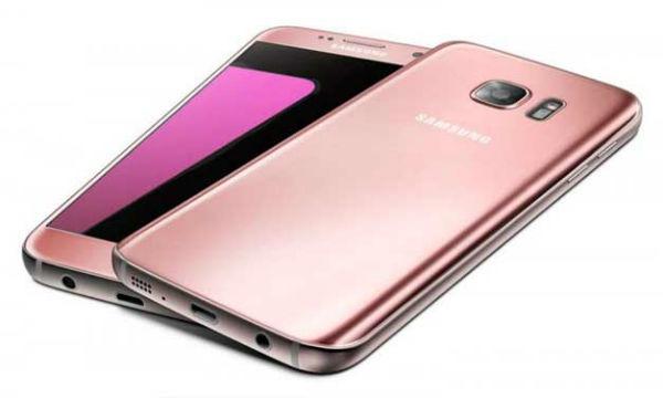 Galaxy S7 Edge rosa swarovski