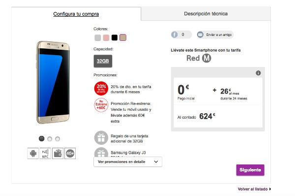 ofertas Vodafone® navidad Samsung