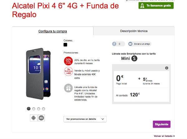 ofertas Vodafone® navidad Alcatel