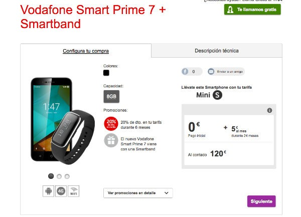 ofertas Vodafone® navidad smartband