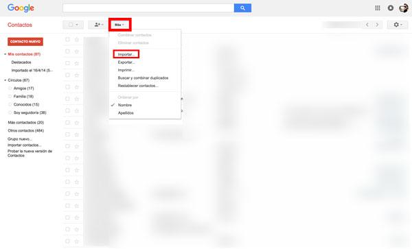 como pasar contactos de iphone a android gmail