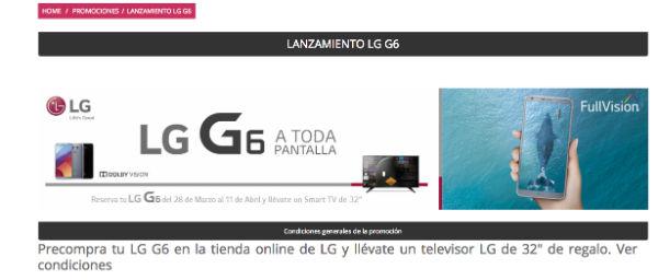 LG G6 tele regalo