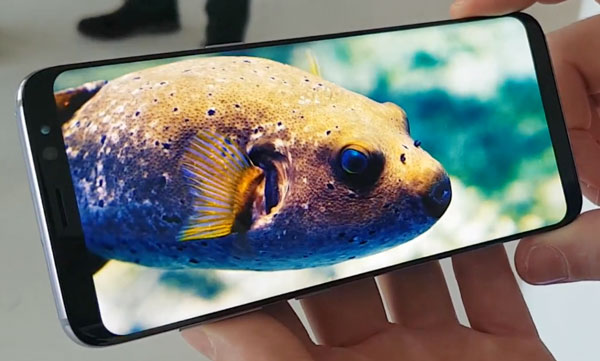 samsung galaxy s8+ video