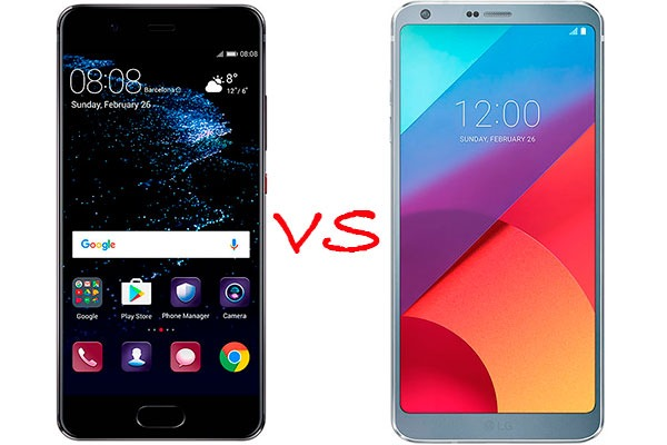 Comparativa Huawei P10 vs LG G6