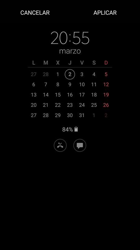 Samsung Galaxy A5 2017 calendario