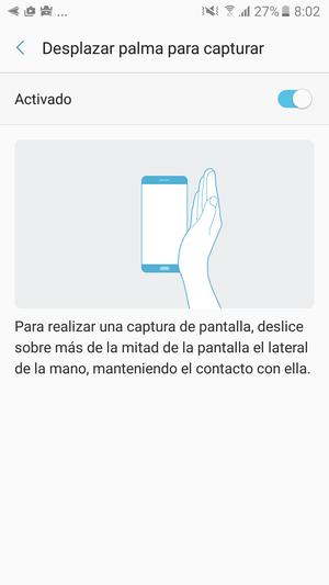 Samsung Galaxy A5 2017 captura gestos