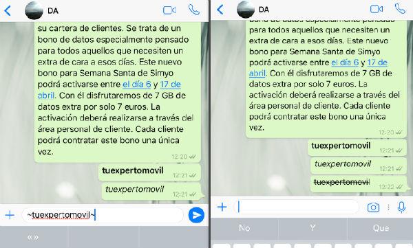 WtahsApp iOS tachado