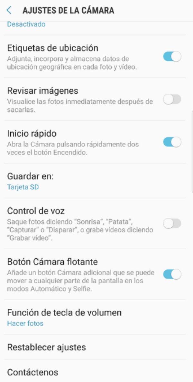 Samsung Galaxy™ S8 botón cámara