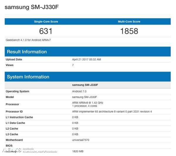 RAM del nuevo Galaxy J3 de 2017