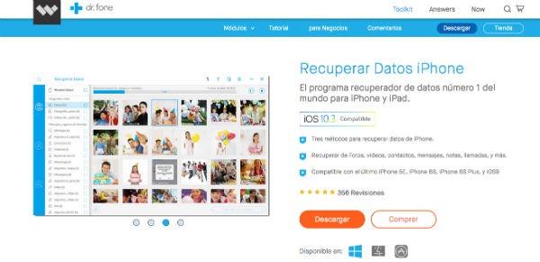 iPhone 7 recuperar datos