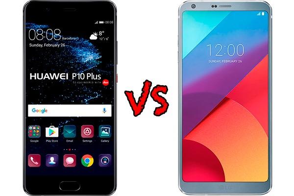 Comparativa Huawei P10 Plus vs LG G6