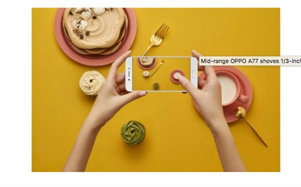 Oppo A77, características principales y precio