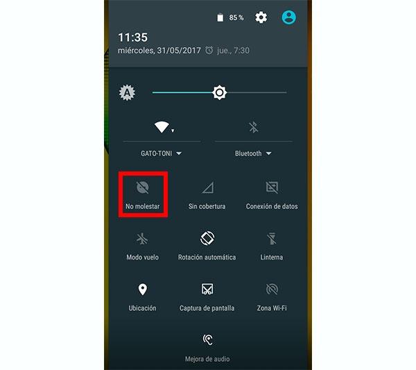 configurar notificaciones android modo no molestar