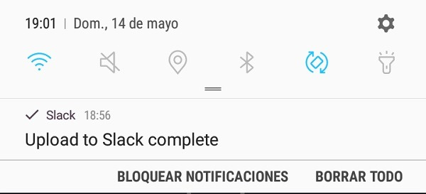Icono de ubicación en el panel de notifcaciones del Samsung Galaxy S8