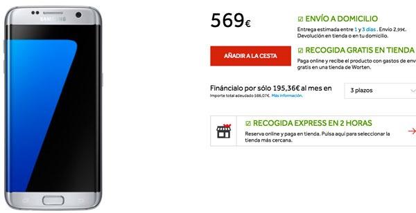 ofertas Samsung Galaxy S7 edge worten