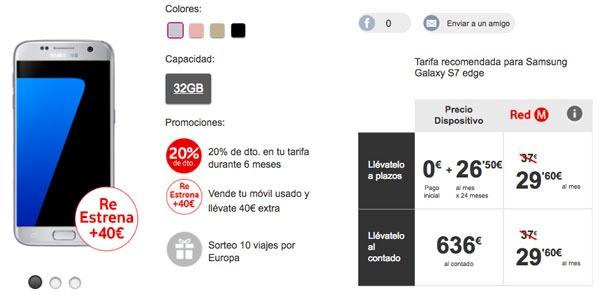 ofertas Samsung Galaxy S7 edge vodafone