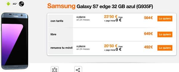 ofertas Samsung Galaxy S7 edge orange