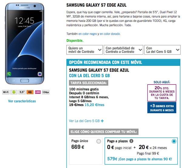 ofertas Samsung Galaxy S7 edge yoigo