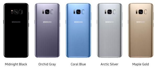 nuevos colores Samsung Galaxy S8