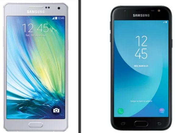 Comparativa Samsung™ Galaxy™ J3 2016 vs Samsung™ Galaxy™ J3 2017