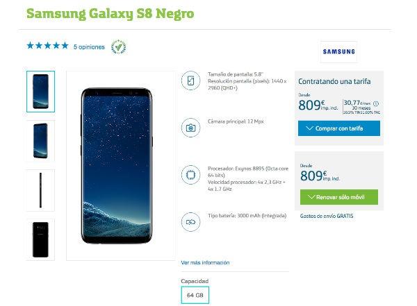 Samsung Galaxy℗ S8 Movistar