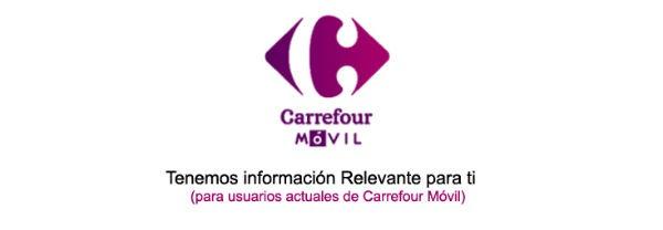 Carrefour Móvil cierre