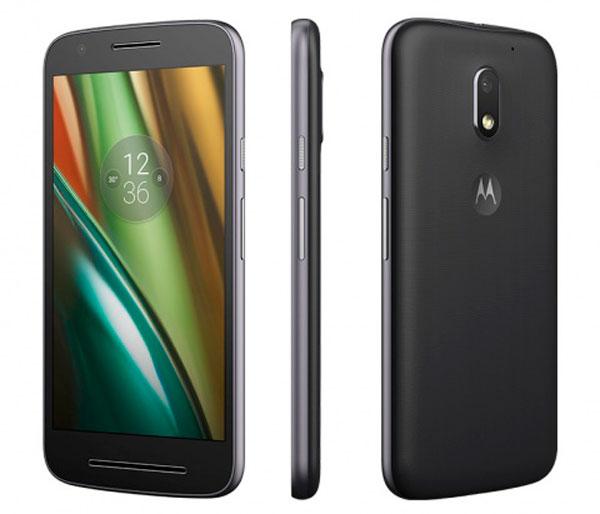 Comparativa Motorola™ Moto™ E4 vs Moto™ E3 parte meta Moto™ E3