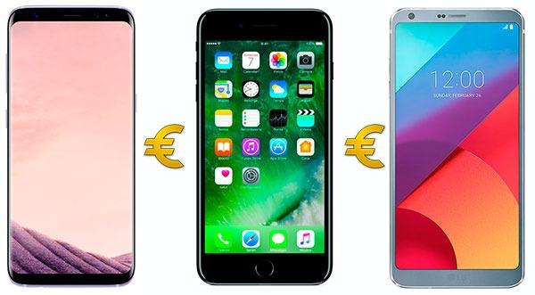 Comparativa precios y ofertas del Samsung Galaxy S8, iPhone 7 o LG G6
