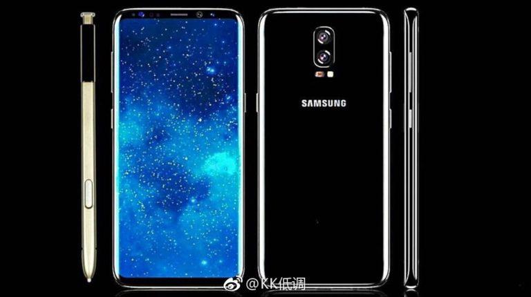 Aparecen esquemas con características del Samsung™ Galaxy™ Note 8