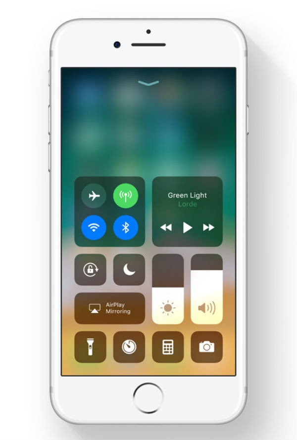 iOS once centro de control