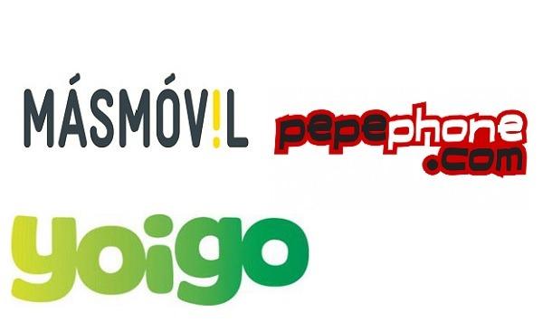 Tarifas actualizadas de Yoigo, Pepephone y MásMóvil