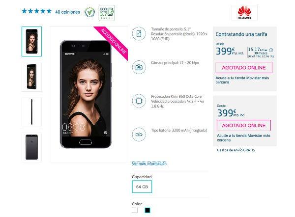 tarifas Movistar™ Huawei™ P10