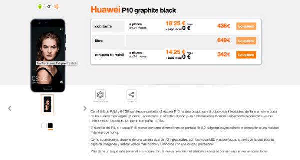 Huawei P10 Orange