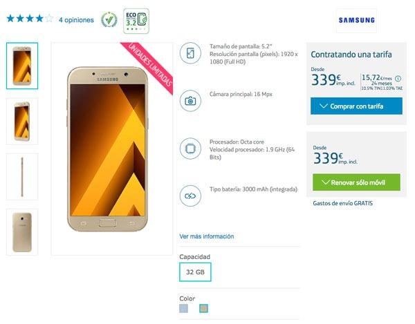 precio operadoras Samsung™ Galaxy™ A5 2017 Movistar