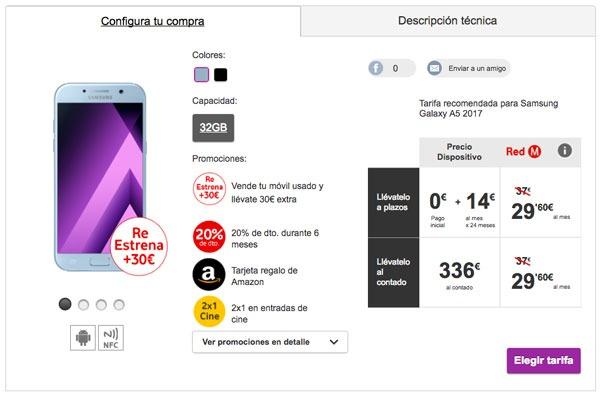 precio operadoras Samsung™ Galaxy™ A5 2017 Vodafone