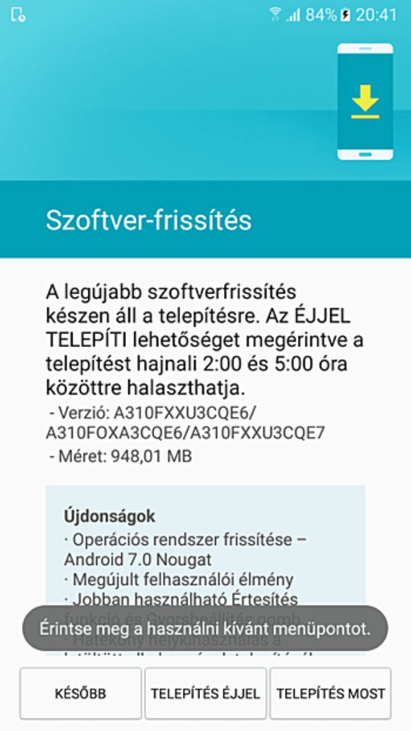 Android siete Samsung™ GAlaxy A3 2016
