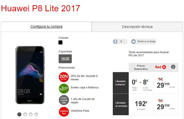 Huawei P8 lite 2017 vodafone