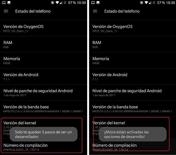 menu desarrollo android