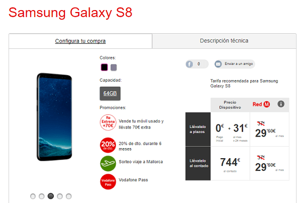 Samsung Galaxy™ S8 vodafone
