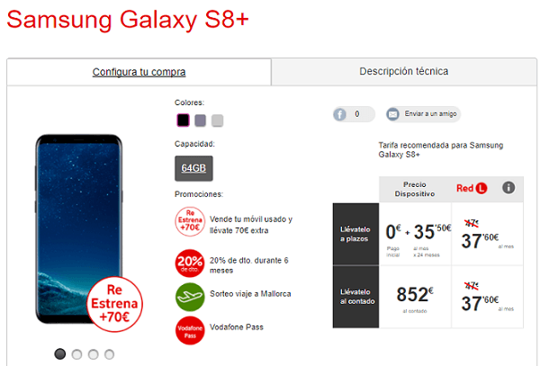 Samsung Galaxy™ S8+ vodafone