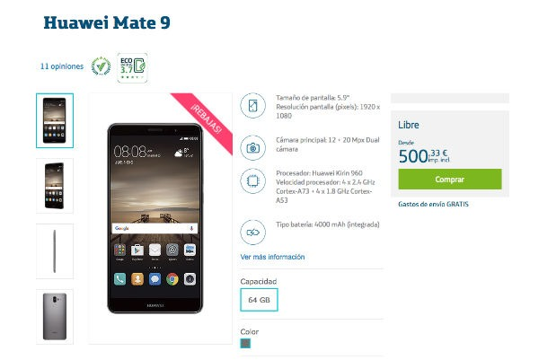 Huawei Mate 9 Movistar