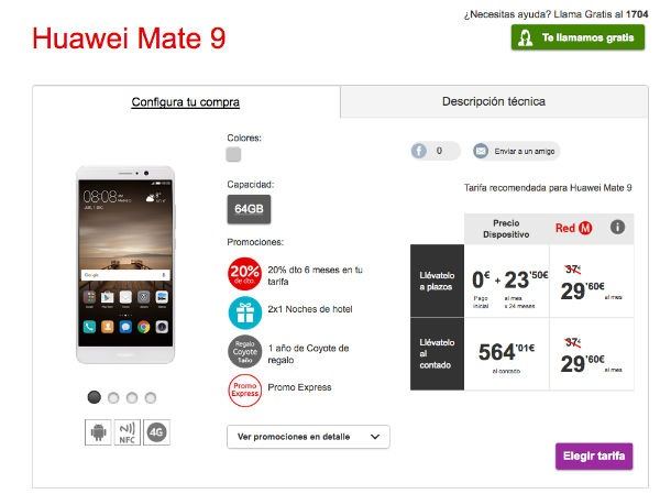 Huawei Mate 9 Vodafone